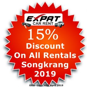 Songkran Holiday Discount on Car Rentals @ Expat Car Rent