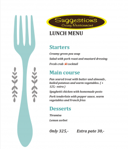 Lunch special at Suggestions Restaurant @ Suggestions