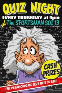 QUIZ NIGHT at The Sportsman