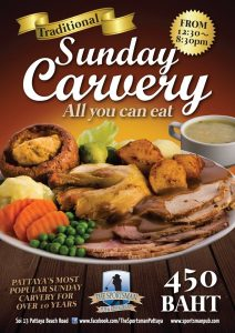 Sunday Carvery - All you can eat only 450b (Sportsman) @ The Sportsman Pub & Restaurant
