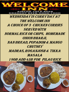WEDNESDAY Curry Day Special - The Welcome Inn @ The Welcome Inn
