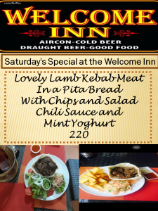 Saturday Luscious Lamb Kebab Special - The Welcome Inn @ The Welcome Inn