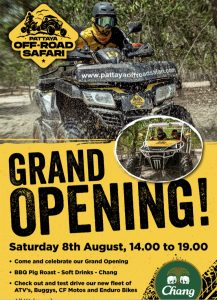 GRAND OPENING @ Pattaya Offroad Safari