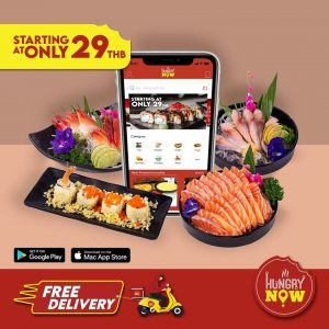 JAPANESE Food delivery - Staring at just THB 29 via Hungry Now